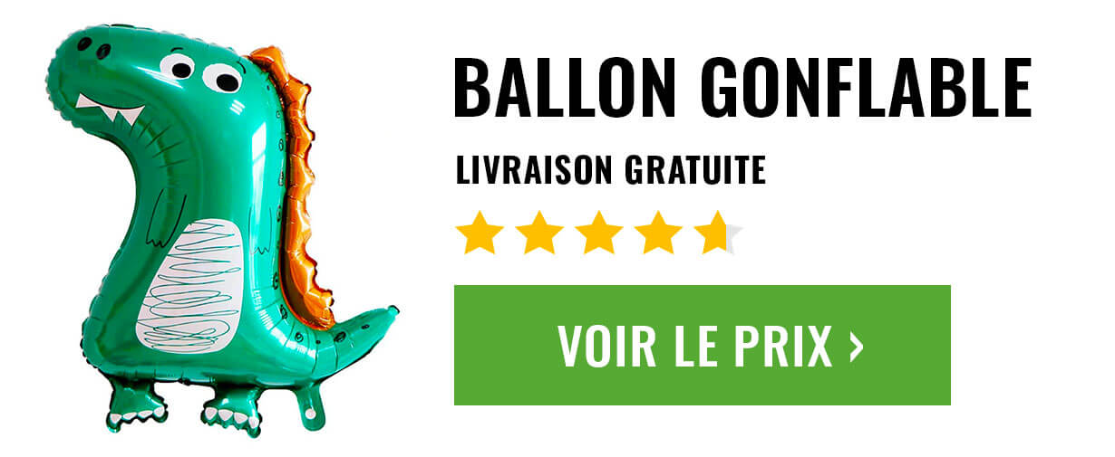 ballon gonflable dinosaure