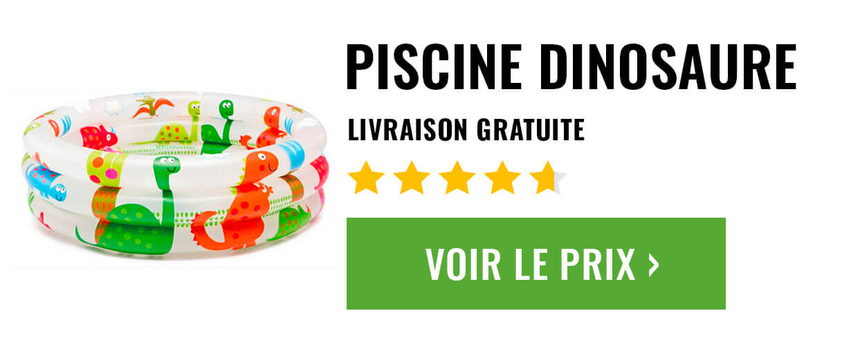 piscine gonflable dinosaure