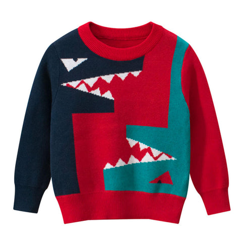 pull dinosaure t rex rouge