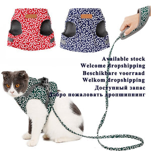 Pet Dog Cat Vest Outdoor Travel Harness Leash superproductonline