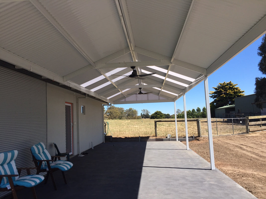 Insulated Gable Patio - 6m x 6m- $14,340.00 Inc GST.