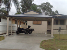 Load image into Gallery viewer, Dutch Gable Carport - 6m x 6m- $11,448.00 Inc GST.