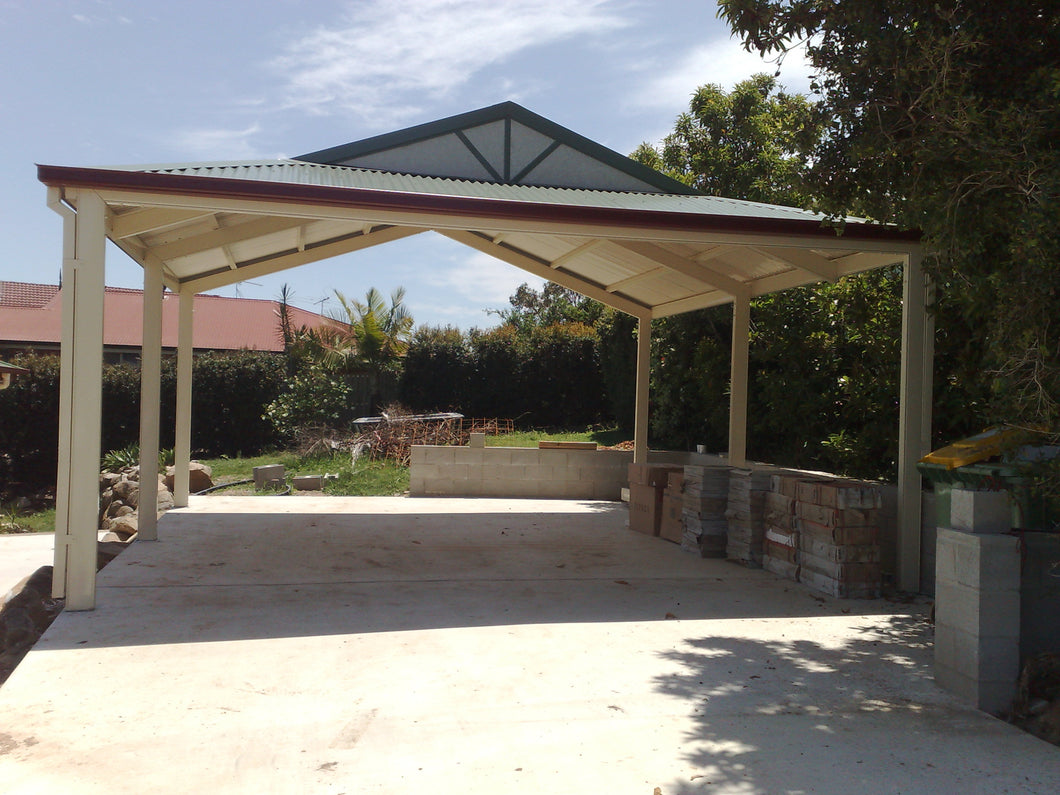 Dutch Gable Carport - 7m x 3m- $7,550.00 Inc GST.