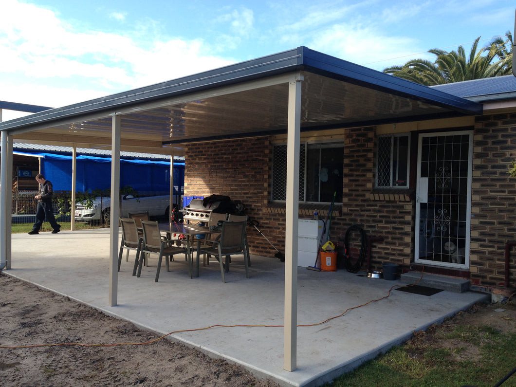 NON-INSULATED Skillion Patio - 11m x 6m- from $11,820.00 Inc GST.