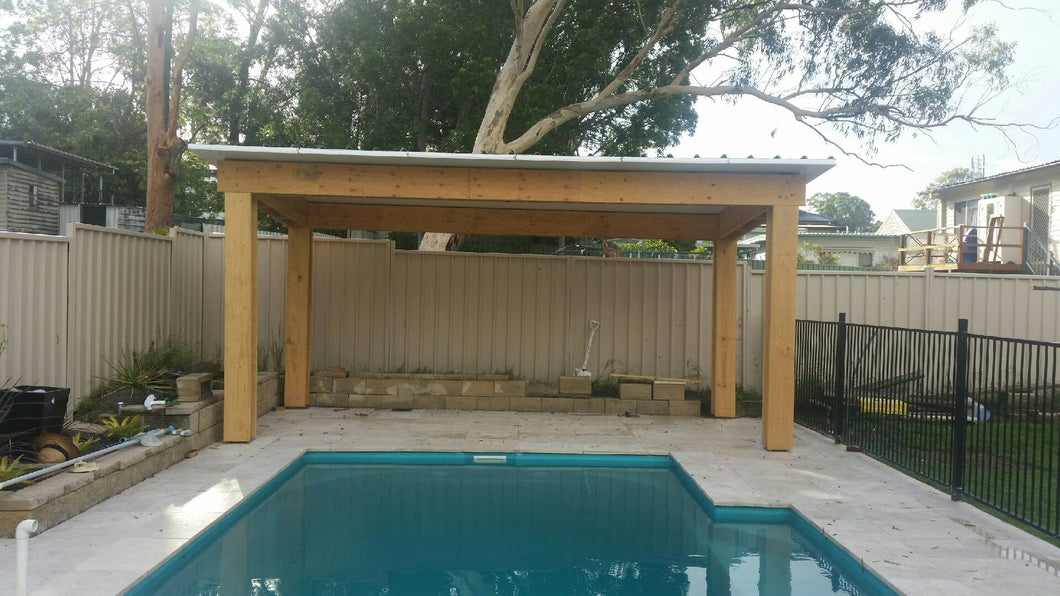 NON-INSULATED Skillion Patio - 13m x 6m- from $14,910.00 Inc GST.