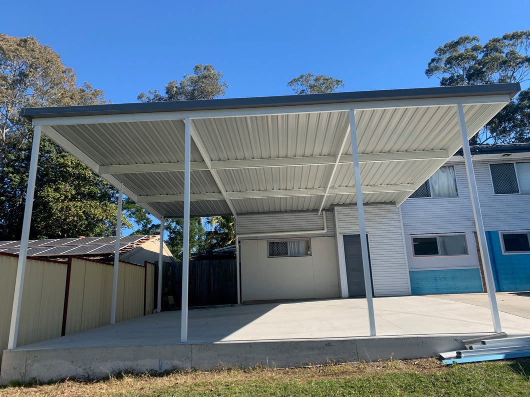Skillion Carport - 8m x 6m- $7,095.00 Inc GST.