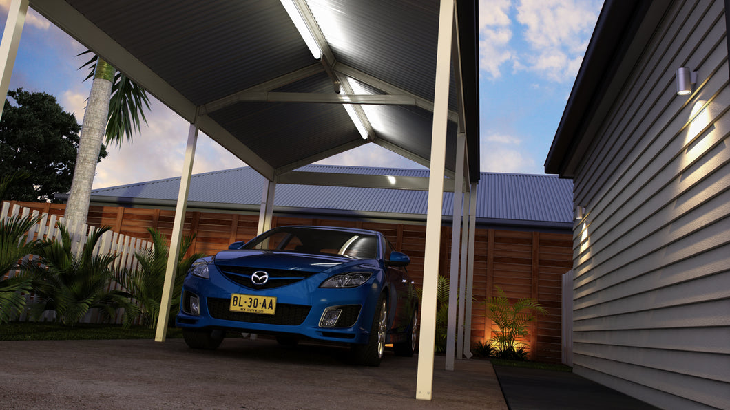 Gable Carport - 6m x 6m- $8,935.00 Inc GST.