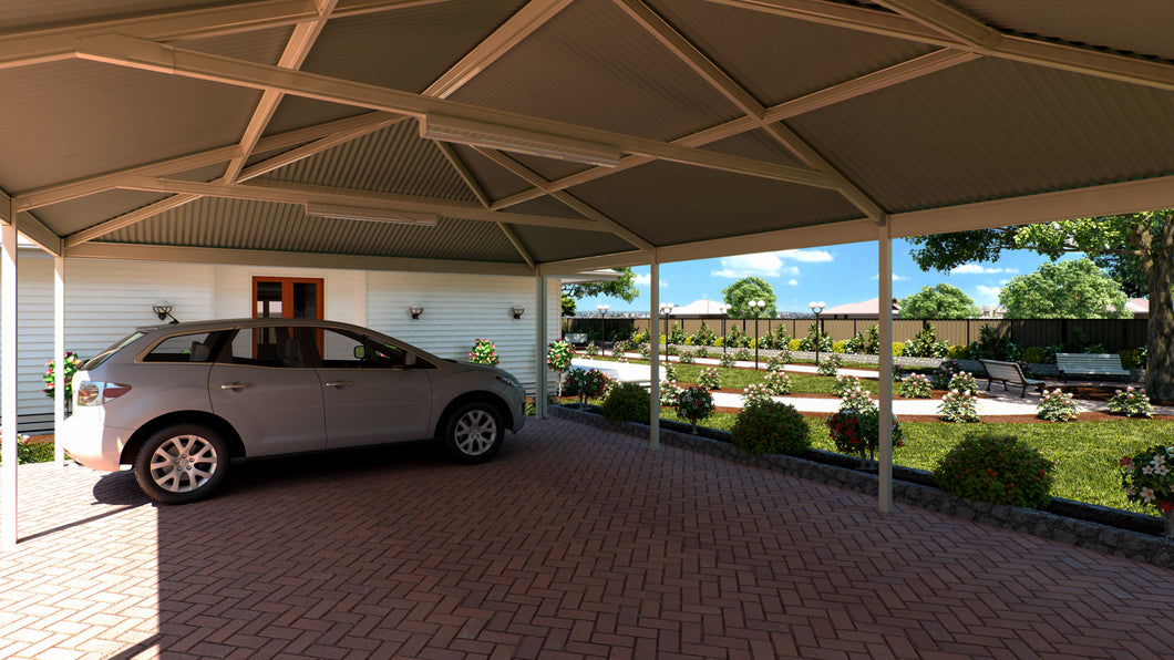 Hip Carport - 7m x 4m- $9,130.00 Inc GST.