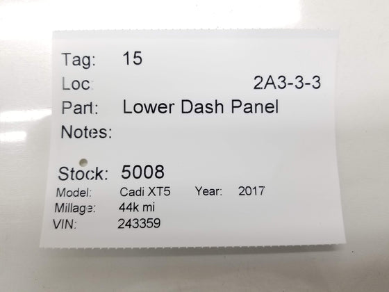 17-20 Cadillac XT5 Dash Knee Bolster Panel Dimmer Parking Switch OEM Genuine