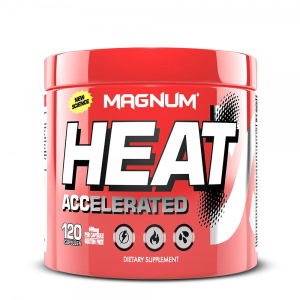 Magnum HEAT Accelerated Thermogenic Fat Burner, 120 Capsules