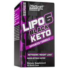 Load image into Gallery viewer, Nutrex LIPO-6 BLACK KETO Advanced Formula Ketogenic Weight Loss, 60 Black Caps