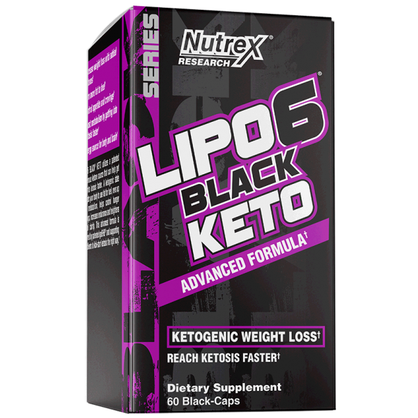 Nutrex LIPO-6 BLACK KETO Advanced Formula Ketogenic Weight Loss, 60 Black Caps