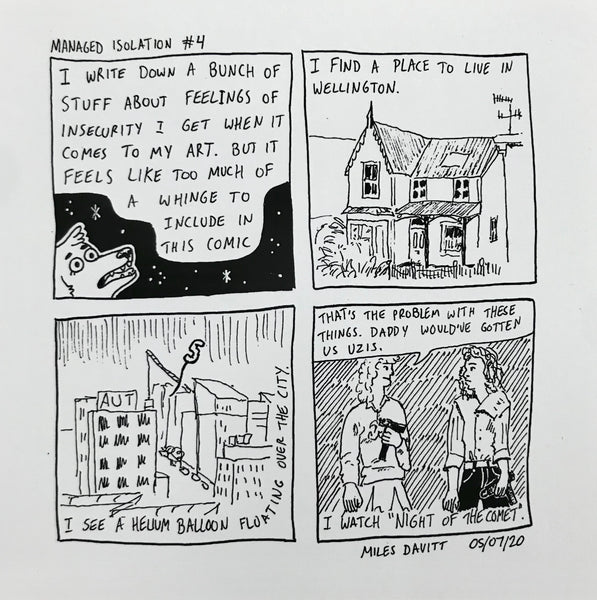 Managed Isolation Comic #4 by Miles Davitt