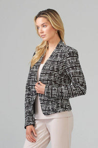 Two tone abstract shorter jacket - Mieka Boutique