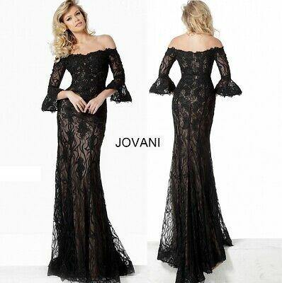 Lace Off the Shoulder Peasant Sleeve Gown
