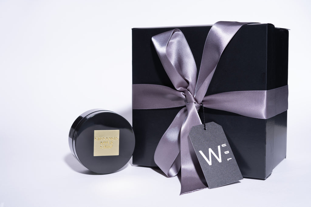 Black Gift Box with Black Ice Creme Jar