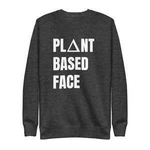 graphite sweatshirt with plant based face print