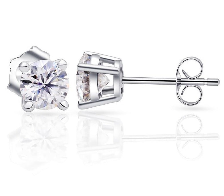 Moissanite Earrings Silver /Gold