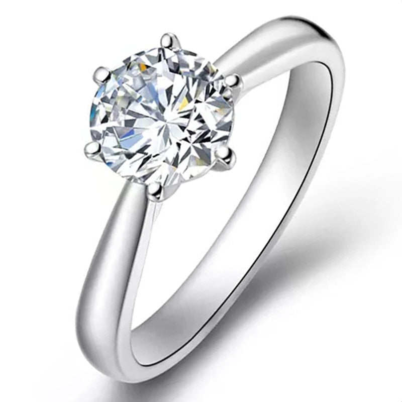Gold Cover Sterling Silver 1ct 6.5mm Moissanite