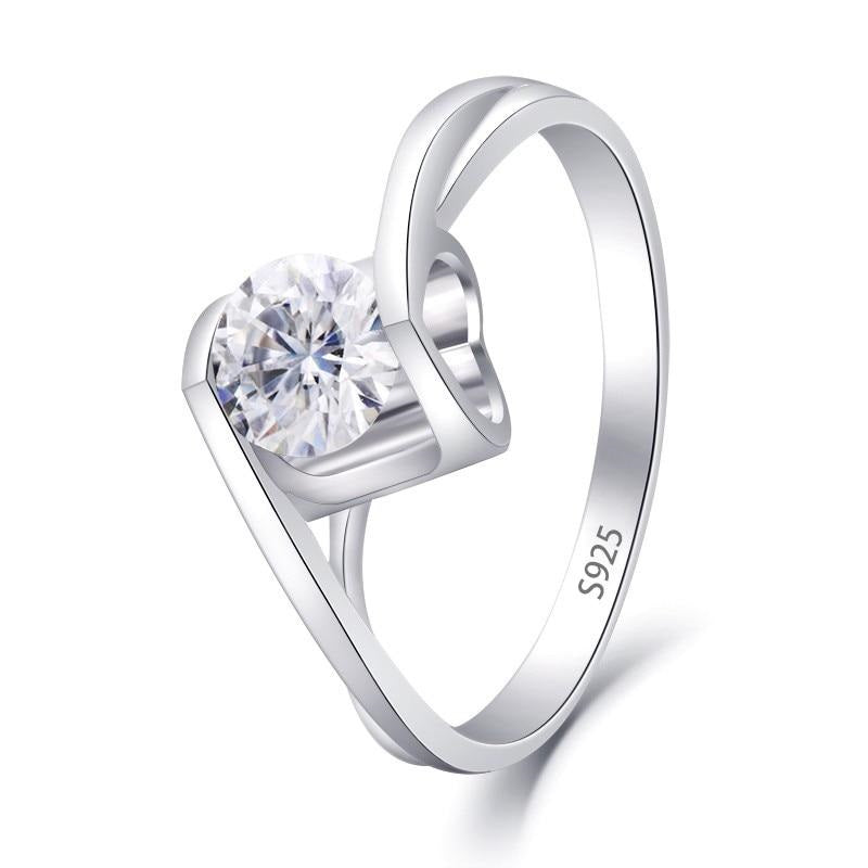 Moissanite 925 Silver Ring