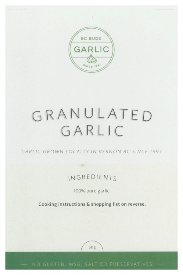 BC Buds Granulated Garlic