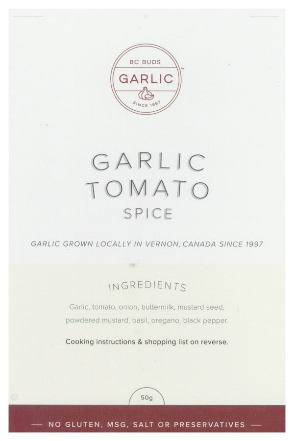 BC Buds Garlic Tomato Spice pack