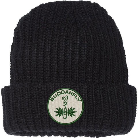 Buddahfly Beanie (black or cream)