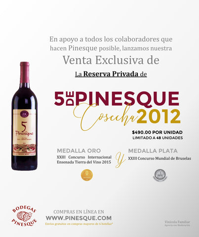 5 de Pinesque 2012 RESERVA PRIVADA