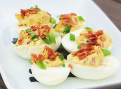 Bacon & Pickle Deviled Eggs