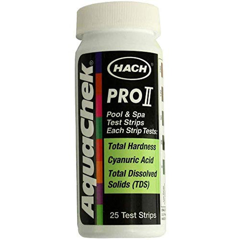 Aquachek Pro II Total Hardness (Calcium and Magnesium) Cyanuric Acid, and TDS Test Strips 25/BTL