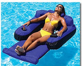 Swimline 9047 Swimming Pool Fabric Inflatable Ultimate Floating Lounger Chair