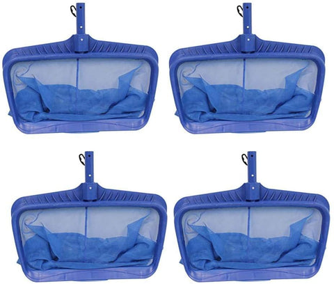 Swimline Hydro Tools Professional Heavy Duty Bag Leaf Rake Pool Net (4 Pack)
