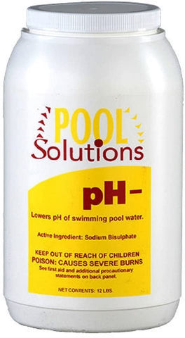BALECO INTERNATIONAL INC. Pool Solutions P32012De Pool Water pH Decreaser pH Minus 12 Pounds