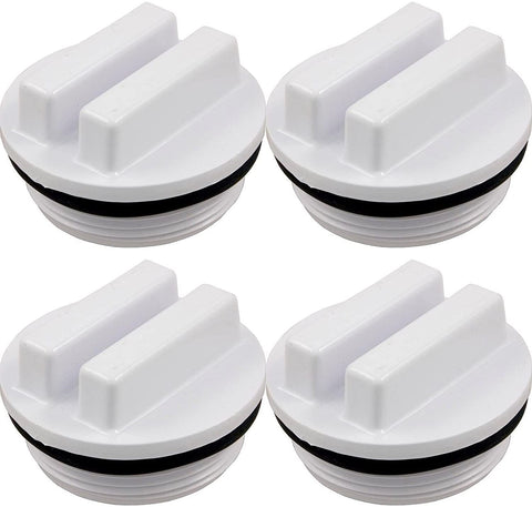 "Swimming Pool Spa Threaded Filter Drain Winter Plug w/O-Ring 1.5"" SP1022C 4 PK"