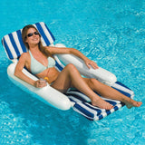 Swimline 10010SL SunChaser Padded Floating Luxury Lounger Cushion Chair 10010