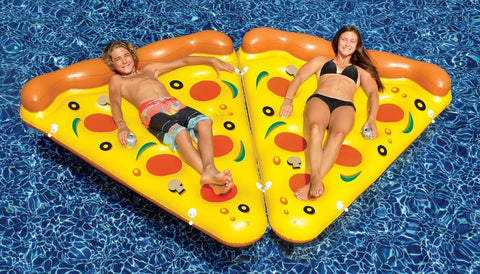Giant Inflatable Pizza Slice Pool Lounger - 2 pack