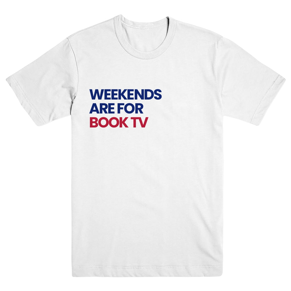 Product image of Weekends are for Book TV White Unisex Tee