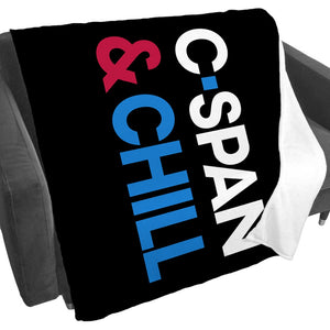 C-SPAN and Chill Fleece Blanket