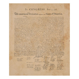 Additional image of Declaration of Independence Fleece Blanket