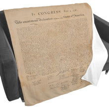 Declaration of Independence Fleece Blanket