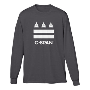 C-SPAN Flag Charcoal Long Sleeve Tee