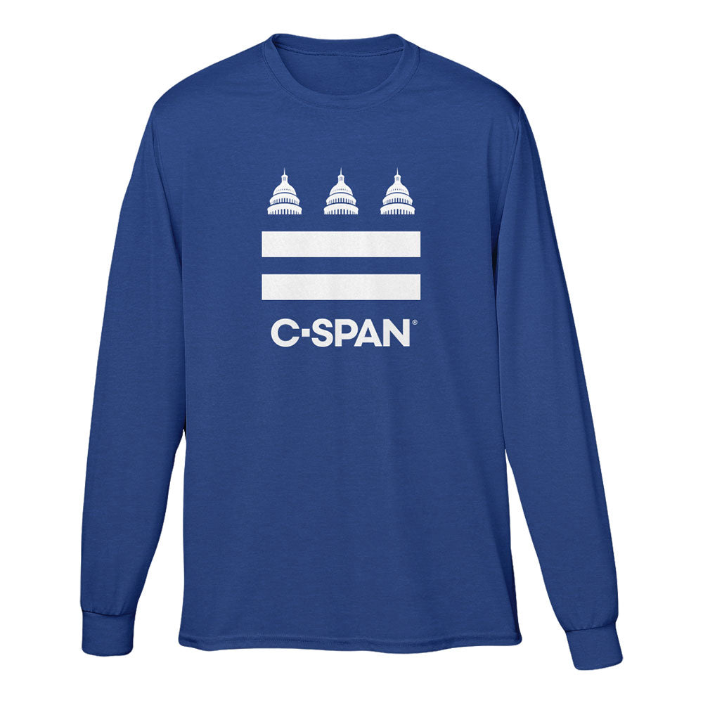 C-SPAN Flag Blue Long Sleeve Tee