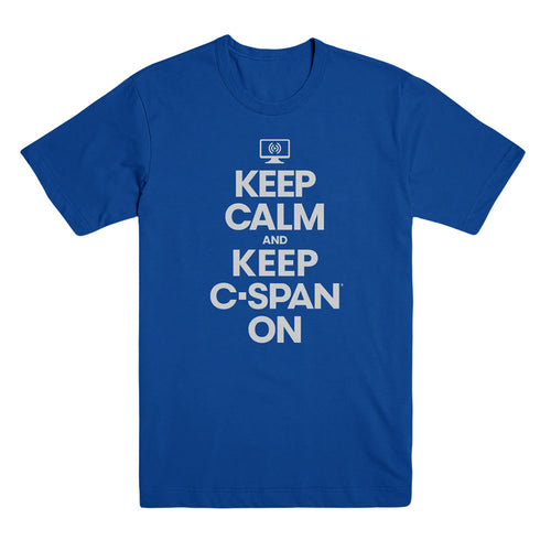 Keep Calm and Keep C-Span On Royal Unisex Tee