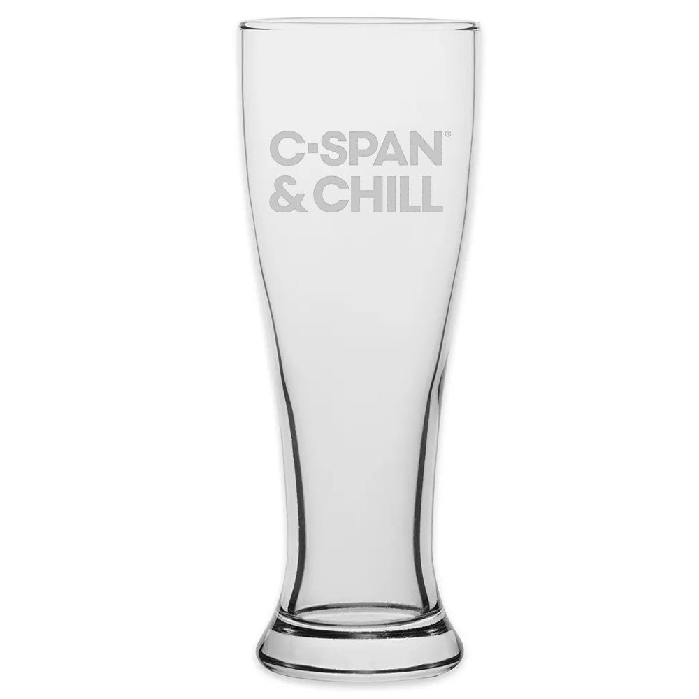 C-SPAN and Chill Pilsner Glass
