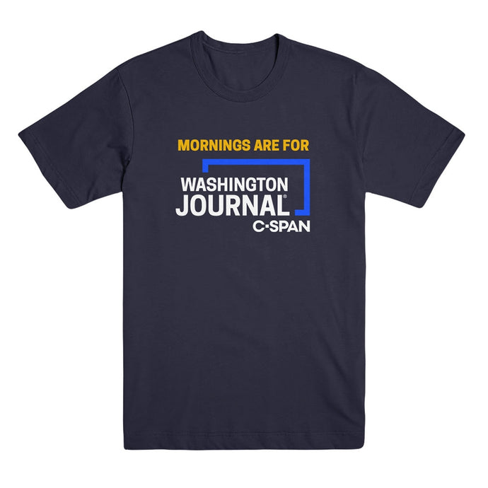 Mornings are for Washington Journal Blue Tee