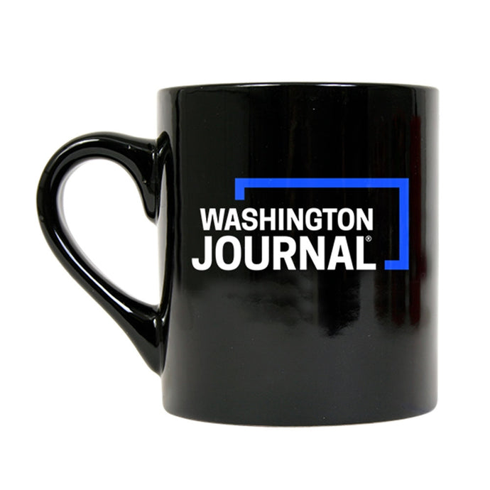 Washington Journal Black Mug