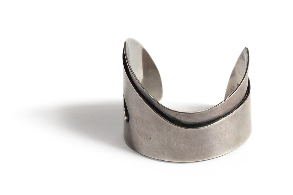 Ed Wiener Sterling Silver Question Mark Cuff Bracelet