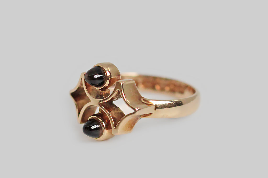 Kalevala Koru Diamond Windows Ring with Smoky Quartz in 14k Gold