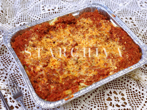 Cheese Baked Fettuccine with Bolognese Sauce