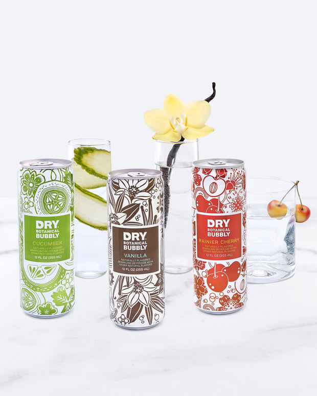 DRY Botanical Bubbly Can Variety Pack (12 Pack) 1